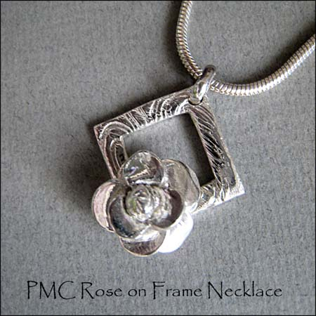 N - PMC Rose on Frame Necklace