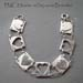 B - PMC Hearts on Squares bracelet