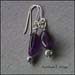 E - Amethyst Earrings