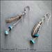 E - Feather & Turquoise Earrings