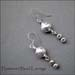 E - Hammered Bead Earrings