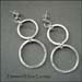 E - Hammered Hoop Earrings