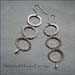 E - Hammered Hoops Earrings