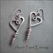 E - Heart Twist Earrings