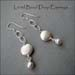 E - Lentil Bead Drop Earrings