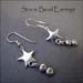 E - Star & Bead Earrings