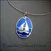 N - Enamelled Sailboat Pendant