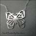 N - Small Butterfly Necklace
