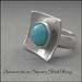 R - Amazonite on Square Shield Ring