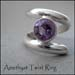 R - Amethyst Twist Ring