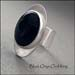 R - Black Onyx Oval Ring