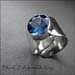 R - Blue CZ Adjustable Ring