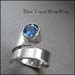 R - Blue Topaz wrap ring