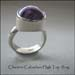 R - Charoite Cabachon High Top Ring