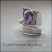 R - Faceted Amethyst Wrap Ring