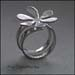 R - Flower topped Wrap ring