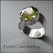 R - Peridot Crown Set Ring