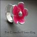 R - Pink Enamelled Flower Ring