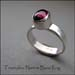 R - Tourmaline Narrow Band Ring
