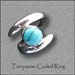 R - Turquoise Coiled Ring