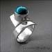 R - Turquoise Wrap Ring
